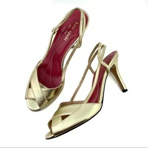 Kate Spade Strappy Gold Heels Sandal